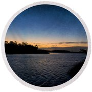 Nightfall Round Beach Towel