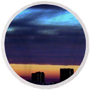 Round Beach Towel featuring the photograph Nightfall Over Pensacola Beach by Faith Williams