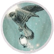 Nighthawk Round Beach Towel