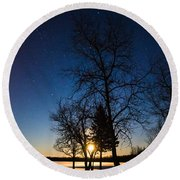 Night's Shadows Round Beach Towel