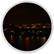 Nightscape Round Beach Towel