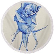 Niki's Rose Round Beach Towel by Marna Edwards Flavell