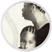 Nina And Lisa Simone Round Beach Towel