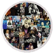 Nirvana Collage Round Beach Towel