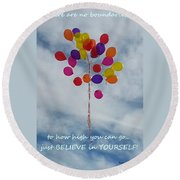 No Boundaries Round Beach Towel by Emmy Marie Vickers