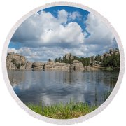 Sylvan Lake South Dakota Round Beach Towel
