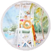 No Problem In Jamaica Mon Round Beach Towel