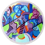 No Strings Attached Round Beach Towel