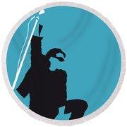 No035 My U2 Minimal Music Poster Round Beach Towel by Chungkong Art