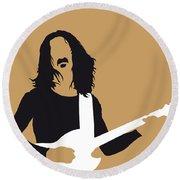 No040 My Frank Zappa Minimal Music Poster Round Beach Towel