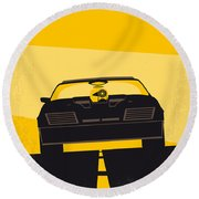 No051 My Mad Max Minimal Movie Poster Round Beach Towel