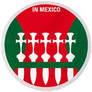No058 My Once Upon A Time In Mexico Minimal Movie Poster Round Beach Towel