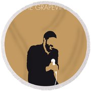 No060 My Marvin Gaye Minimal Music Poster Round Beach Towel