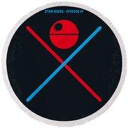 No080 My Star Wars Iv Movie Poster Round Beach Towel