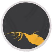No110 My Birds Movie Poster Round Beach Towel