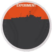 No126 My The Philadelphia Experiment Minimal Movie Poster Round Beach Towel by Chungkong Art