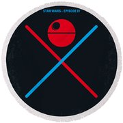 No154 My Star Wars Episode Iv A New Hope Minimal Movie Poster Round Beach Towel by Chungkong Art
