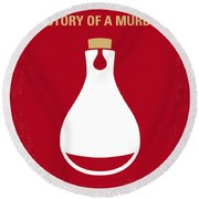 No194 My Perfume The Story Of A Murderer Minimal Movie Poster Round Beach Towel
