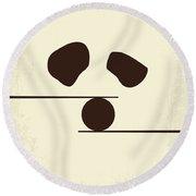 No227 My Kung Fu Panda Minimal Movie Poster Round Beach Towel