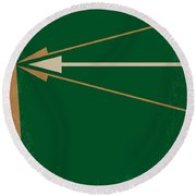 No237 My Robin Hood Minimal Movie Poster Round Beach Towel