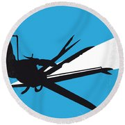 No260 My Scissorhands Minimal Movie Poster Round Beach Towel by Chungkong Art
