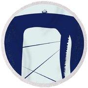 No267 My Moby Dick Minimal Movie Poster Round Beach Towel