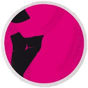 No307 My Pretty Woman Minimal Movie Poster Round Beach Towel by Chungkong Art