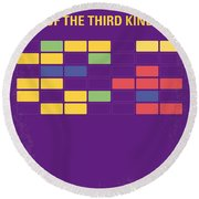 No353 My Encounters Of The Third Kind Minimal Movie Poster Round Beach Towel