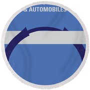 No376 My Planes Trains And Automobiles Minimal Movie Poster Round Beach Towel