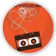 No384 My Eternal Sunshine Of The Spotless Mind Minimal Movie Pos Round Beach Towel