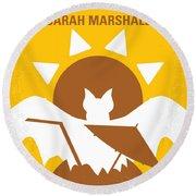 No393 My Forgetting Sarah Marshall Minimal Movie Poster Round Beach Towel