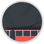 No397 My Street Car Named Desire Minimal Movie Poster Round Beach Towel
