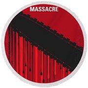 No410 My The Texas Chain Saw Massacre Minimal Movie Poster Round Beach Towel