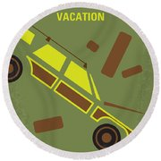 No412 My National Lampoons Vacation Minimal Movie Poster Round Beach Towel