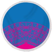 No416 My Contact Minimal Movie Poster Round Beach Towel