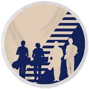 No429 My Stand By Me Minimal Movie Poster Round Beach Towel