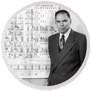 Nobel Winner Glenn Seaborg Round Beach Towel