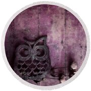 Nocturnal In Pink Round Beach Towel by Priska Wettstein