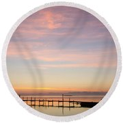 Nordic Light Round Beach Towel