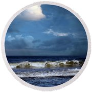 Nor'easter Blowin' In Round Beach Towel