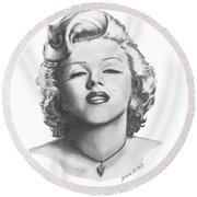 Norma Jeane Round Beach Towel
