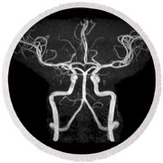 Normal Intracranial Mra Round Beach Towel