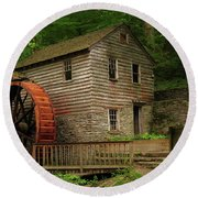 Rice Grist Mill Round Beach Towel by Douglas Stucky