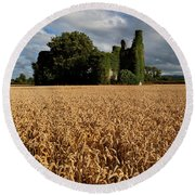 Norrisland Castle, County Waterford Round Beach Towel