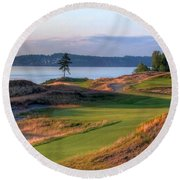 North By Northwest - Chambers Bay Golf Course Round Beach Towel