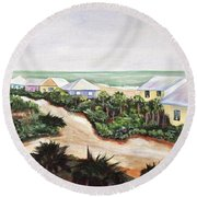 Round Beach Towel featuring the painting North Captiva by Patricia Piffath