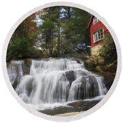 North Carolina Waterfall Round Beach Towel