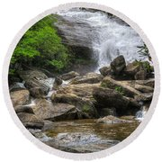 North Carolina Waterfall Round Beach Towel