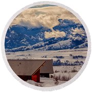 North Cascades Mountain View Round Beach Towel