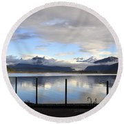 Round Beach Towel featuring the photograph North Douglas Reflections by Cathy Mahnke